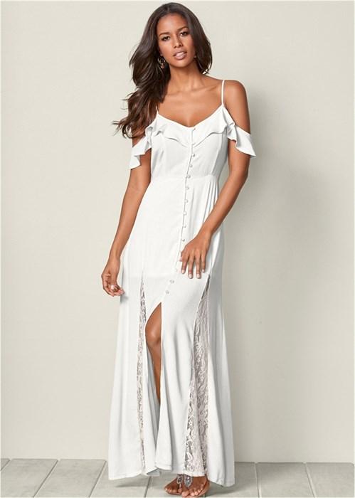 Платье Cold Shoulder - фото 4483