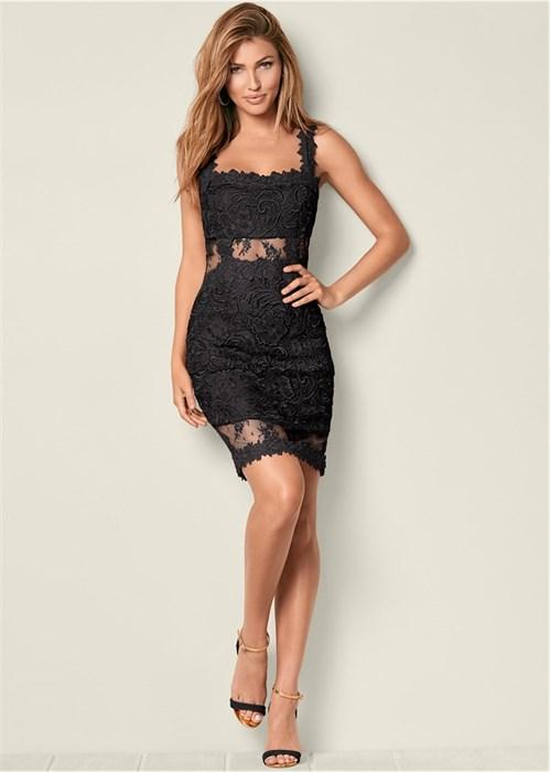 Платье Lace Bodycon - фото 4505