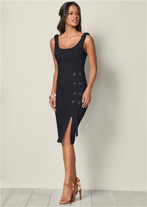 Платье Lace Up Detail - фото 4511