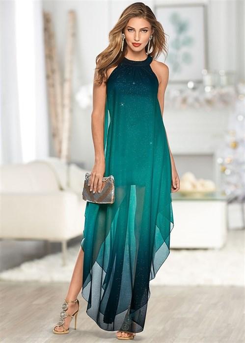 Платье Ombre Glitter Long - фото 4550