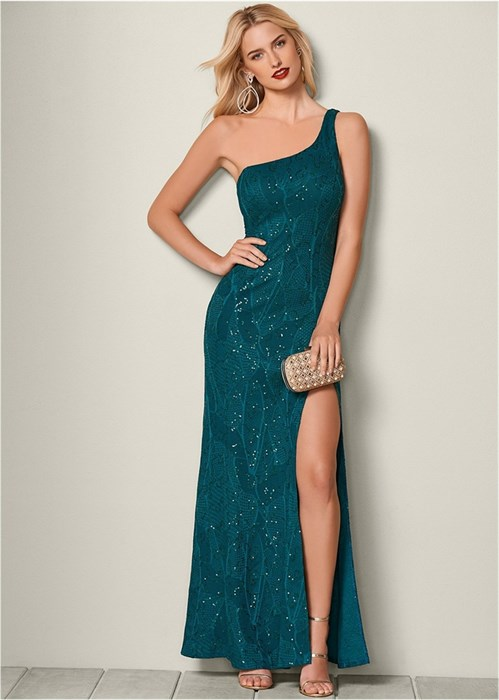 Платье High Slit Lace - фото 4561