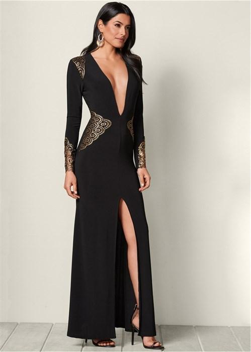 Платье Plunging V-Neck Long - фото 4564