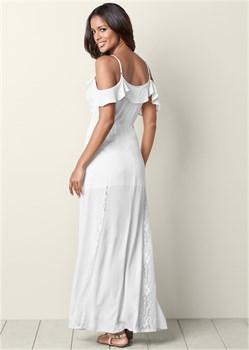 Платье Cold Shoulder - фото 4481