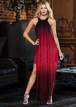Платье Ombre Glitter Long - фото 4549