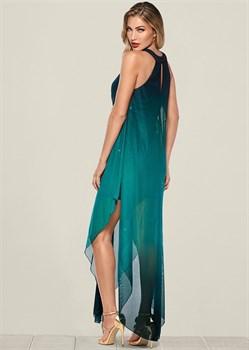 Платье Ombre Glitter Long - фото 4551