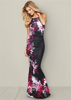 Платье Floral Print Long