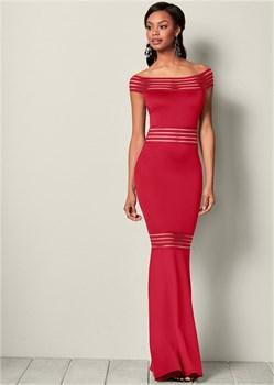 Платье Mesh Detail Long - фото 4558