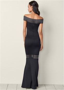 Платье Mesh Detail Long - фото 4560